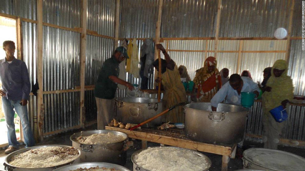 One of the feeding centers set up recently by Gift of the Givers in Mogadishu, Somalia.