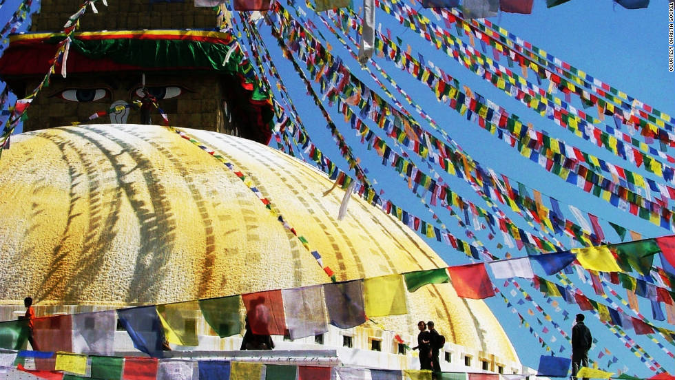 Gockel shared this photo of the colorful prayer flags that adorn many temples in Kathmandu. They can be found all over the Himalayas region in Nepal and Tibet and are thought to predate Buddhism.