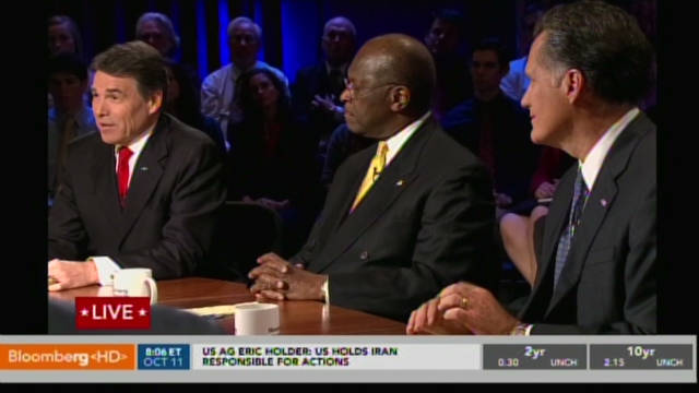 Cain under fire at GOP debate