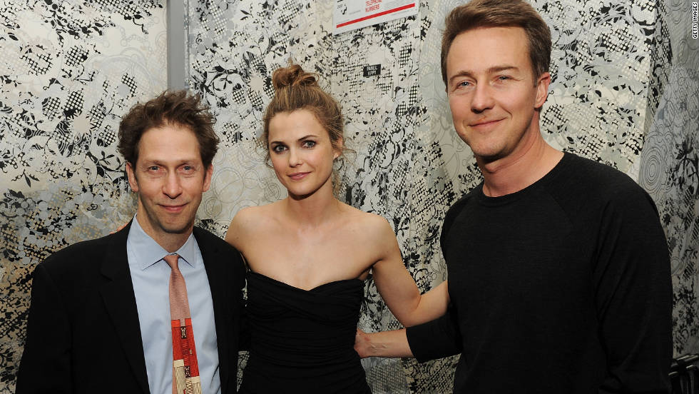 "Another Oscar nominee, Norton, at right with Tim Blake Nelson and Keri Russell, has gone from ""Fight Club"" to ""The Incredible Hulk."" He's got range, and we think he could capture Jobs' intensity. Wondering about his ability to transform on screen? Check out ""Leaves of Grass,"" in which he plays a college professor and his own brother, a small-town marijuana grower."