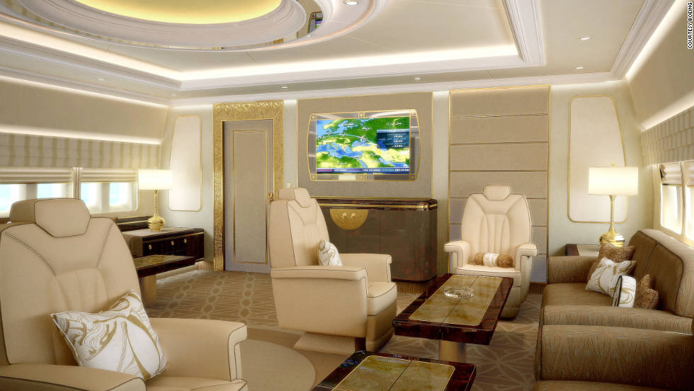 Relaxing is easy within Boeing's luxurious interior.