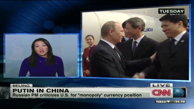 Vladimir Putin visits China