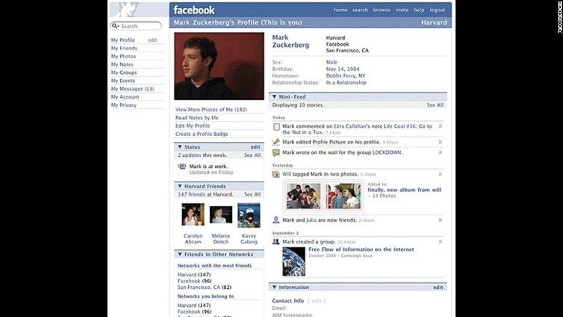 "By 2006, anyone 13 and up was allowed to join Facebook. That same year Facebook introduced the News Feed, which highlighted  new updates and photos within your social networks. As they would after almost every major change, Facebook users revolted, starting a petition to change Facebook back. One petitioner said, ""I don't need to know everything about EVERYONE."""