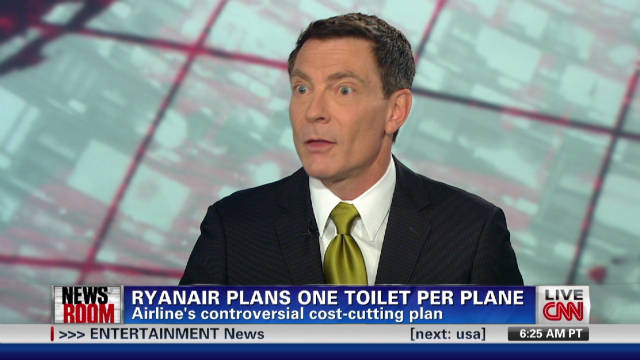 Ryanair plans one toilet per plane