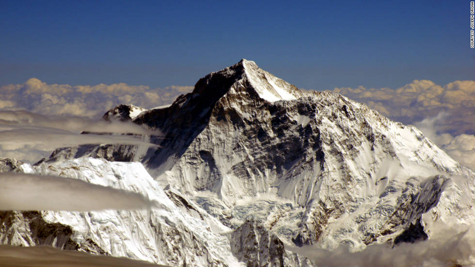 iReporter Joseph Orona took this photograph of Mount Everest from a commercial aircraft flying from Lhasa, Tibet, to Kathmandu, Nepal.