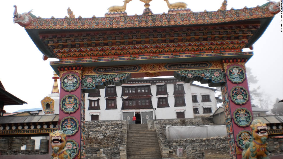 """""""Home to the highest monastery in Nepal, the Tengboche Monastery is situated in the Khumjung Valley, Solukhumbu, within the Sagarmatha (Everest) National Park, Nepal.  A peaceful, quiet, chilled and serene place, it is also home for Buddhist monks,"""" says iReporter Kuna Rajandran."""