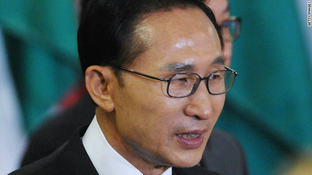 South Korean president Lee Myung-bak sees a 'window of opportunity' after Kim Jong Il's death