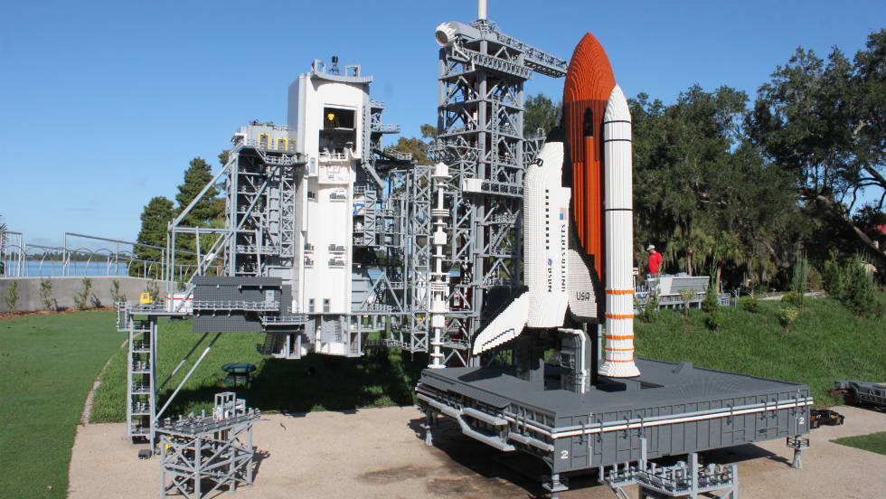 Kennedy Space Center also gets the Lego treatment.