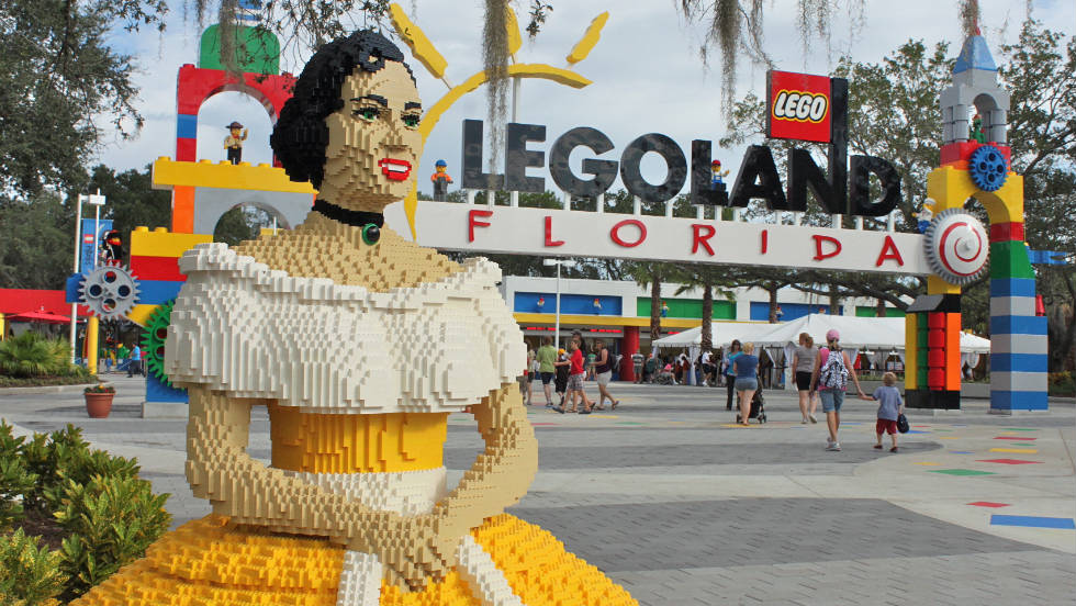 Legoland was built on the site of historic Florida theme park Cypress Gardens. That park's signature Southern belles have been reimagined in Legos.