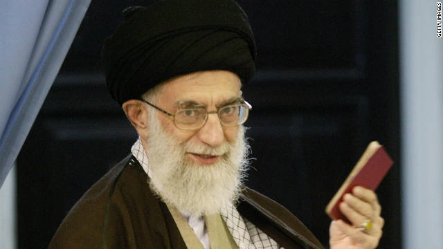 Khamenei (shown in 2008) blames either the CIA or Mossad for the death of another Iranian nuclear scientist.