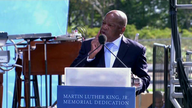 Lewis: 'Dr. King was our leader'