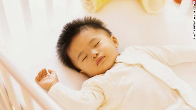 The AAP now recommends that infants sleep on their backs on a firm mattress, without any soft objects or loose bedding.