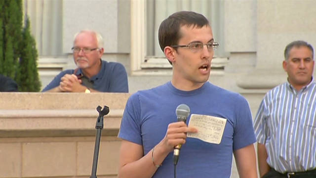 Freed U.S. hikers speak at Occupy rally