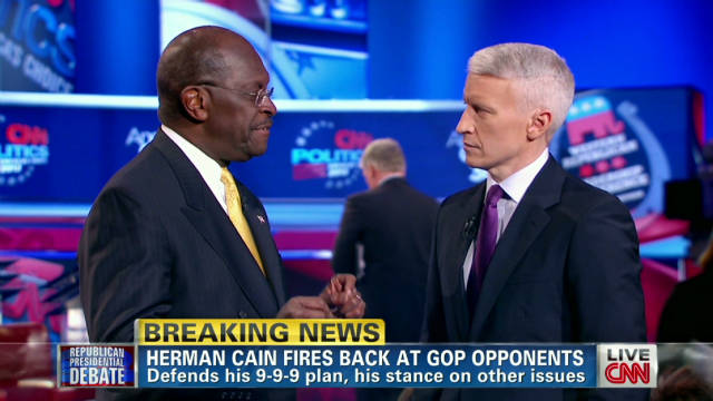 Cain admits he misspoke at debate