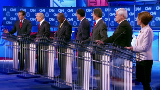 Candidates trade barbs in feisty debate