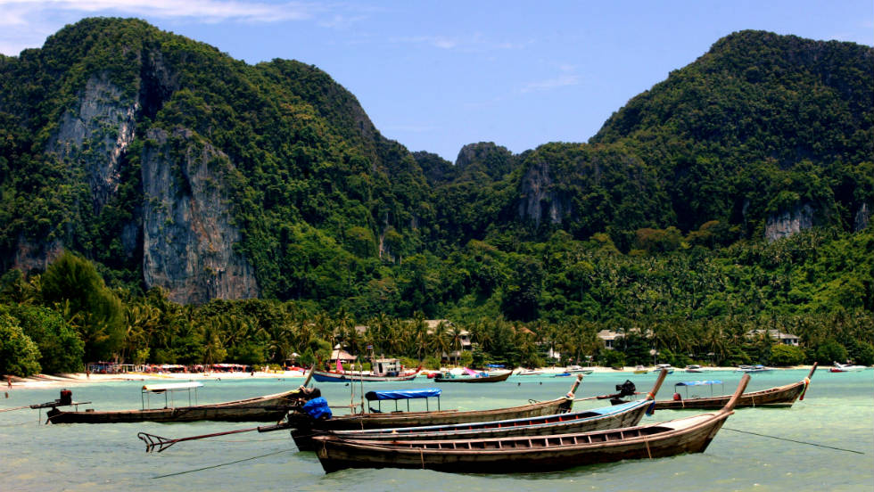 "Koh Phi Phi in southern Thailand was the backdrop for the utopian existence featured in ""The Beach""."