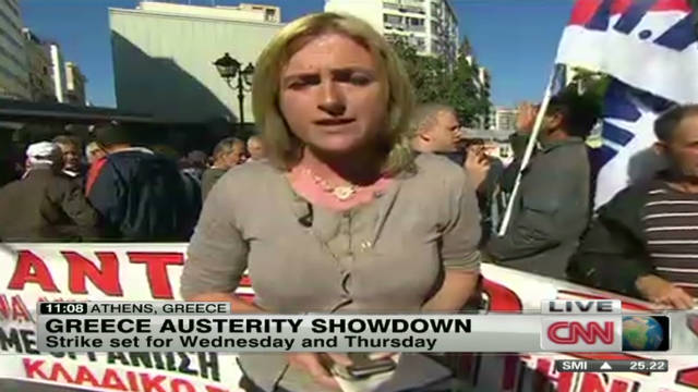 Austerity strike begins in Greece