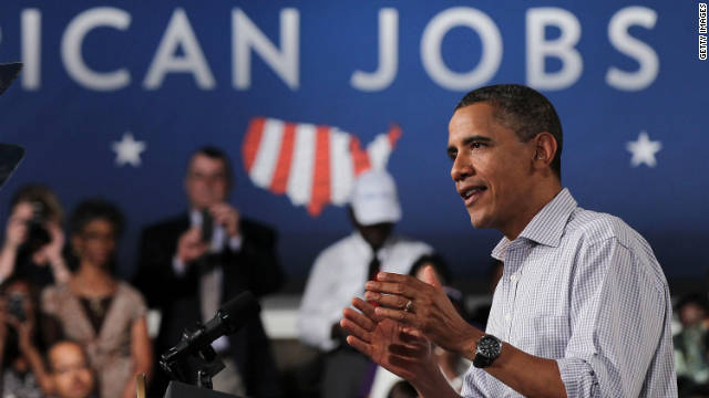 President Obama speaks on jobs Tuesday in Virginia. The Senate is expected to vote on part of the plan this week.