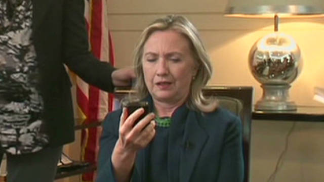 Secy. Clinton reacts to Gadhafi news