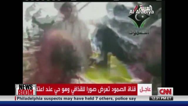 Gadhafi's last moments alive