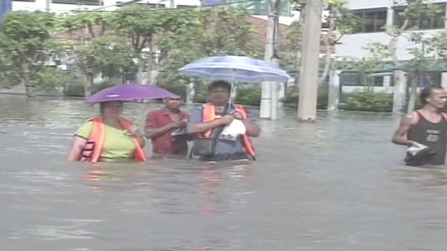 Floodwaters engulf Bangkok area