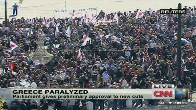 Protesters demonstrate in Greece