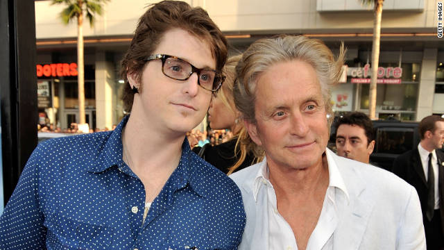 Cameron Douglas, Michael Douglas' son, is charged with possessing items that tested positive for cocaine and heroin.