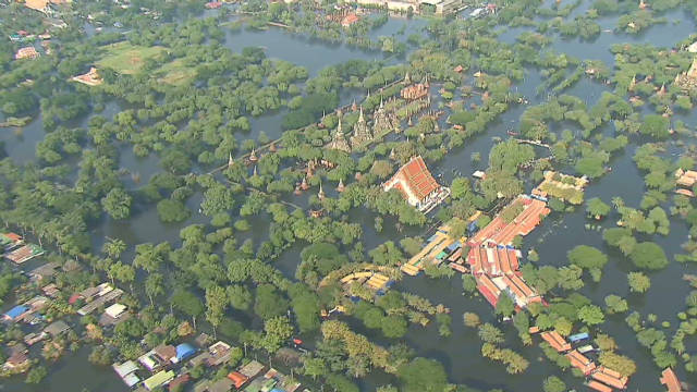 Floodwaters swamp Bangkok, Thailand
