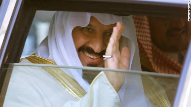 Saudi Arabian Crown Prince Sultan bin Abdul Aziz leaves the Elysee Palace in Paris, France, in 1999.