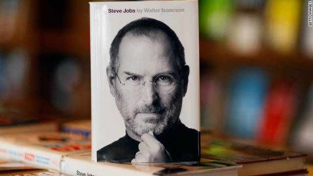 """Steve Jobs,"" an eagerly awaited biography of the late Apple-co-founder, went on sale Monday."