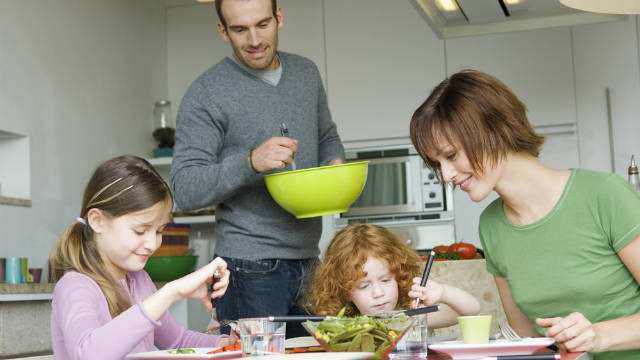 A new report shows Americans are cooking more meals at home -- and eating healthier.