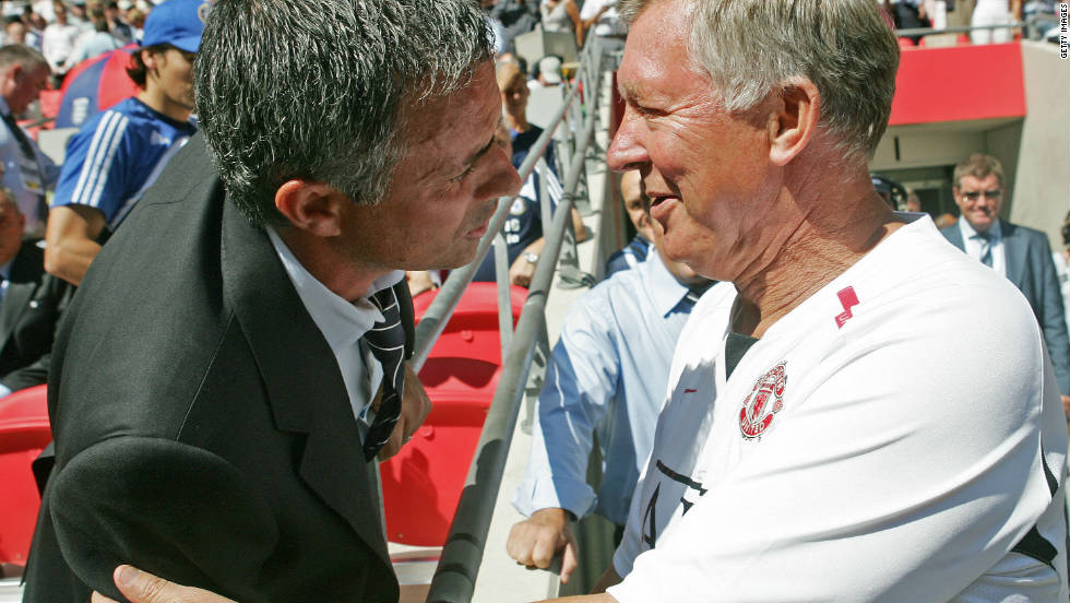 Jose Mourinho represented a new adversary for Ferguson when he arrived in England to manage Chelsea. 'The Special One' prevailed, winning two straight Premier League titles, but the relationship between the two men has always been one of mutual respect and admiration. There lives on a tradition of each trying to out-do the other by producing a better wine to share after games between their respective teams.