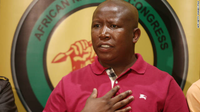 ANC Youth League president Julius Malema, pictured in August, has praised Zimbabwe's land reform program.