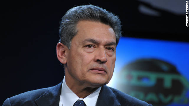 Rajat Gupta, senior partner emeritus at McKinsey and Company, as pictured at the World Economic Forum on January 28, 2010, in Davos, Switzerland.