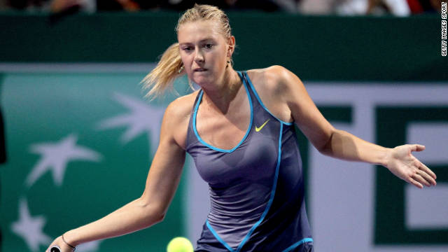 Maria Sharapova in action against Li Na in the ATP Championships, Istanbul. She later pulled out of the tournament.