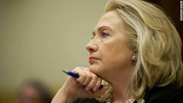 Hillary Clinton testifies before Congress on October 27, 2011, following a trip to Pakistan.