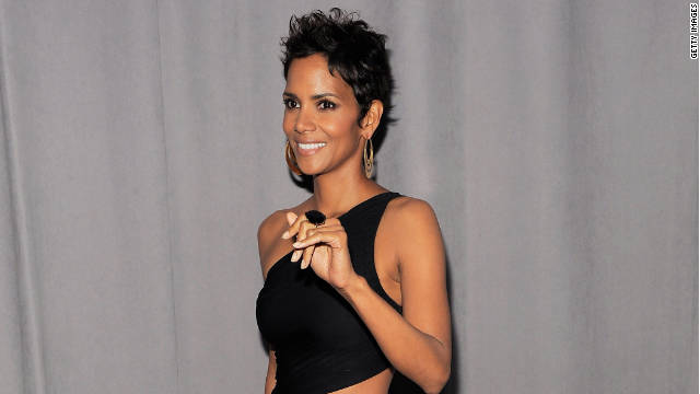 Halle Berry's visit to court Tuesday was brief and private.