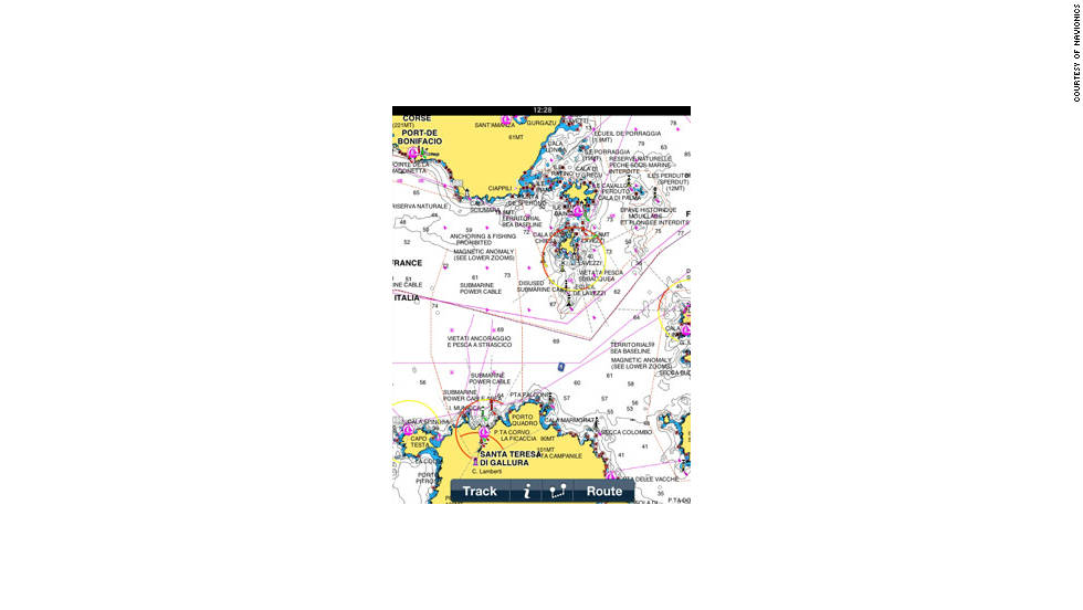 The Navionics Marine app is available for regions across the world.