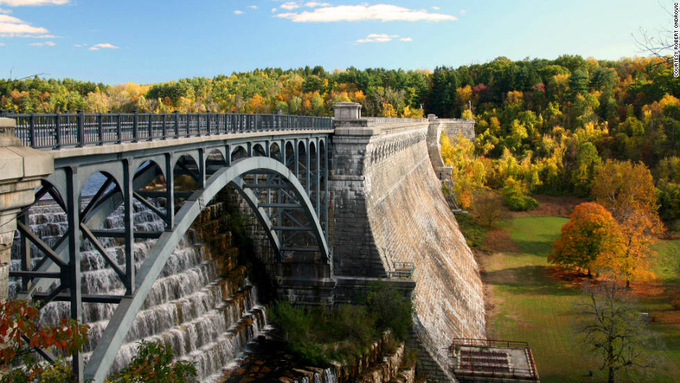"Robert Ondrovic took this photo of Croton Falls Dam in New York. ""This is a beautiful location for a hike along the dam and reservoir,"" he said."