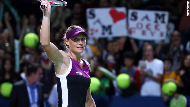 Australia's Samantha Stosur clinched her first grand slam by winning the U.S. Open in September.