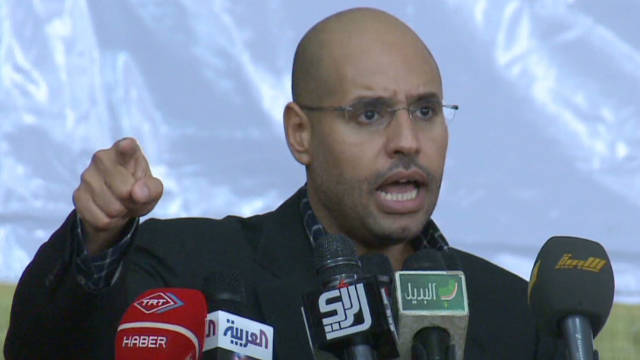 The International Criminal Court has charged Saif al-Islam Gadhafi with crimes against the Libyan people.