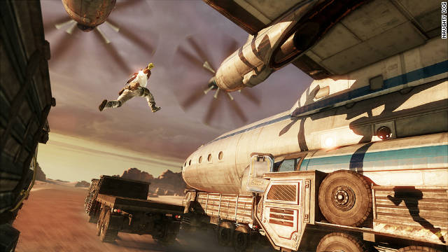 "The makers of video game ""Uncharted 3"" built their story around cinematic action set pieces."