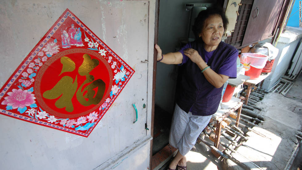 Lui Shek Lan has lived in her rooftop dwelling for more than 30 years.