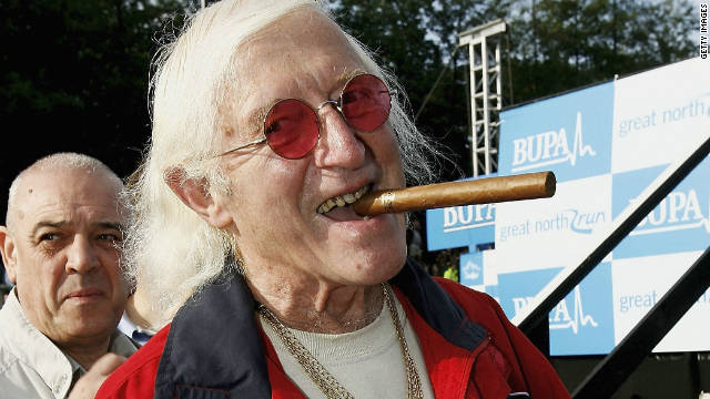Veteran British radio DJ and TV presenter Jimmy Savile, pictured in October 2006.