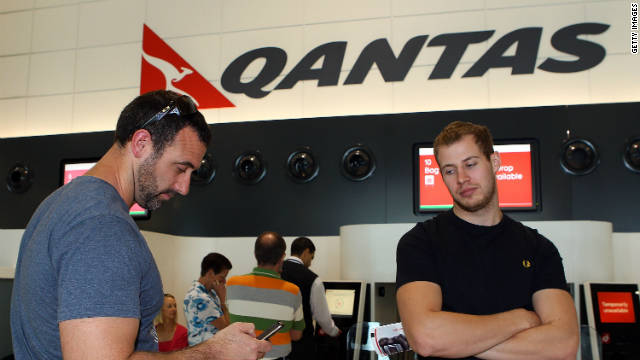Qantas Airways shutdown affects thousands