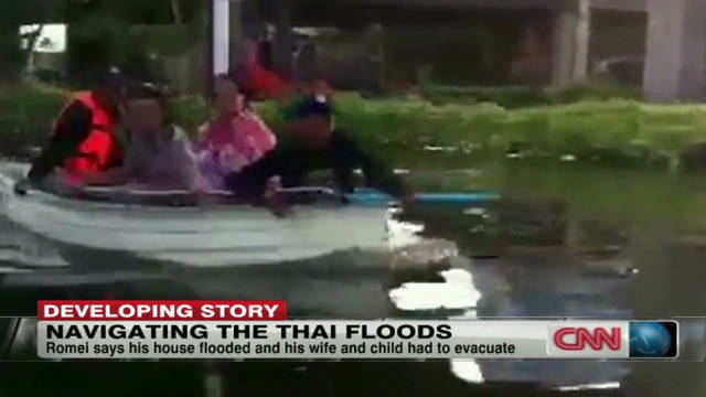 Bangkok residents trapped by floods