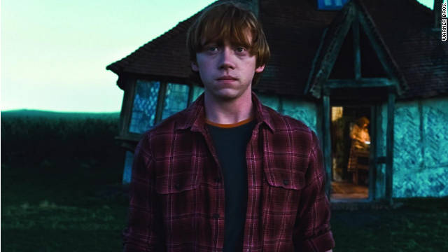 J.K. Rowling doesn't specify in what context she was picturing Ron's death.