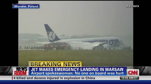 Jet's emergency landing in Warsaw