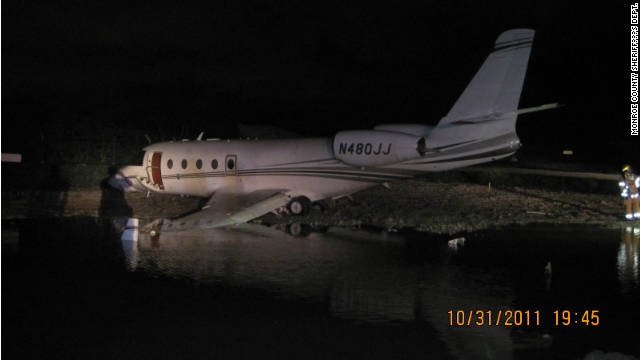 A plane carrying NASCAR team owner Rick Hendrick crashed in Key West, Florida, Monday. There were no serious injuries.