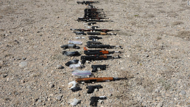 Guns seized in Mexico are believed to be part of a botched gun probe that led to drug cartels' receiving weapons.